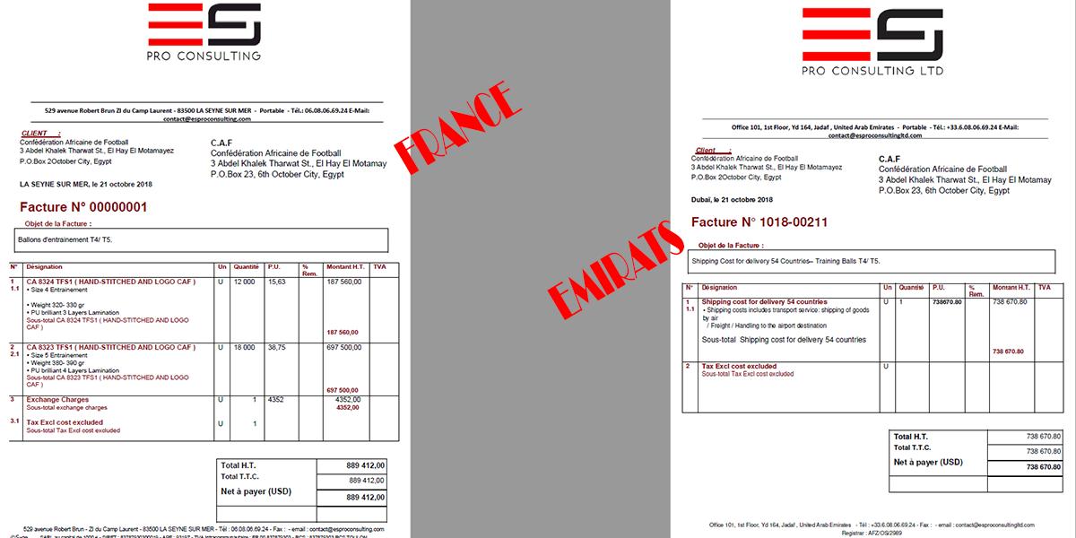 Le montage financier d'ES Pro Consulting avec des produits en France et une livraison aux UAE