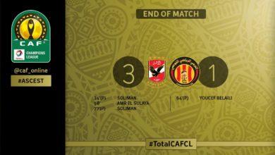 Photo de [CAF Champions League 2018] : Al Ahly- ES Tunis 3-1